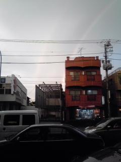二重の虹が…
